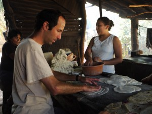 Making tortillas, in Sutiava, Leon