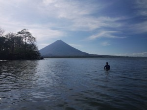 Volcan Concepcion from Santa Cruz, Isla de Ometepe