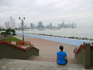Panama City's banking district, view from the cinta costera